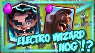 electro wizard hog deck top competitive hog cycle strategy tips tricks clash royale