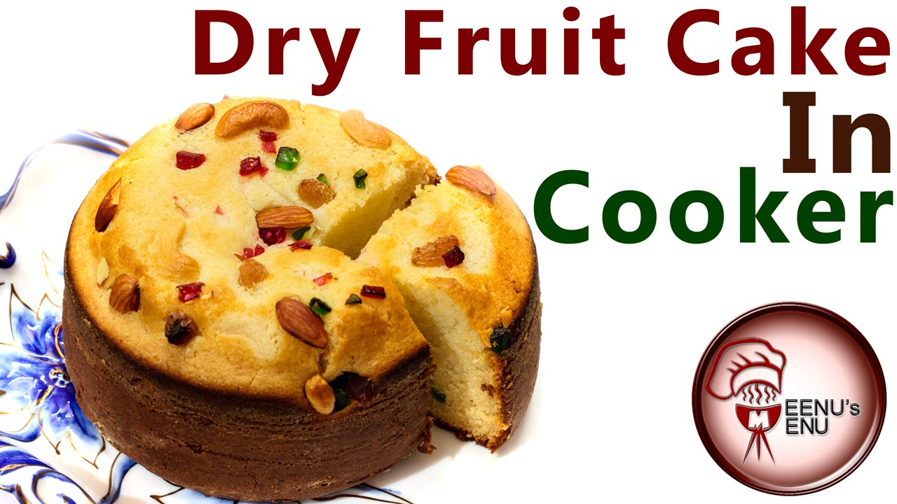 Eggless Dryfruit Cake In Cooker Christmas Special Cake Recipe
