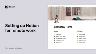 Setting up Notion for remote work