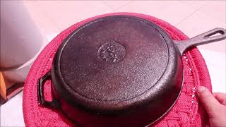 Cast Iron Care Tips -Cleaning, Seasoning|How to Season Iron SKILLET|First Use of Cast Iron Skillet