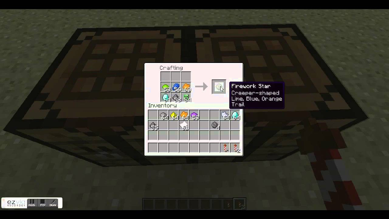 How to make the best firework in minecraft - YouTube