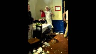 White Frat Boy Gets Pied In Face