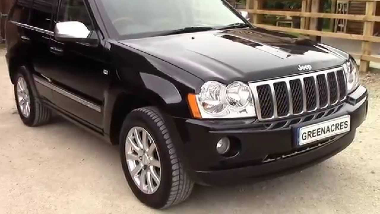 for sale 2007 07 reg jeep grand cherokee 3.0 crd v6 overland - youtube