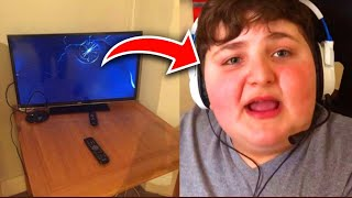 I UNPLUGGED HIS PS4 MID GAME... FORTNITE FAT KID RAGE (Caught on Camera)