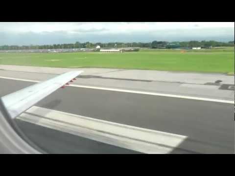 ex-british midland embraer rj145 Landing Manchester Airport (british airways from heathrow)
