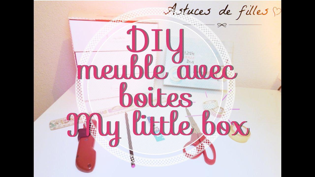 Diy 1 fabrication d 39 un meuble avec ses boites my little - Meuble rangement maquillage ...