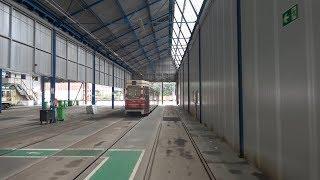 HTM tramlijn 1k Remise Scheveningen - Scheveningen Noord - Station Den Haag Hollands Spoor   2019