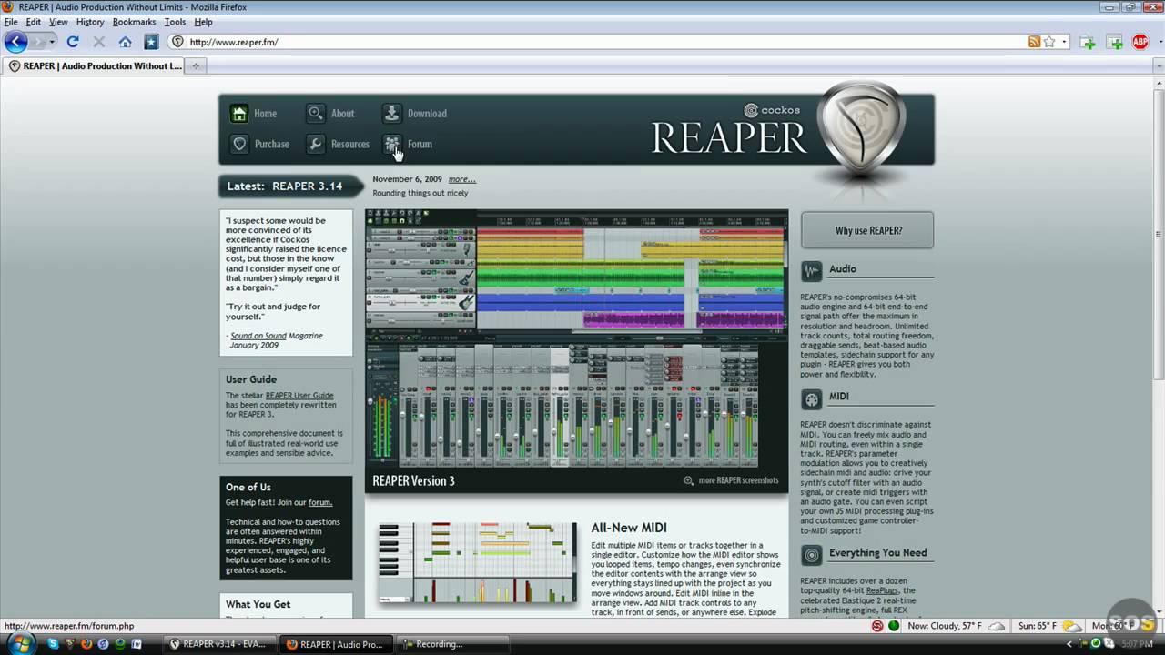 Reaper Tutorial 1 - Overview