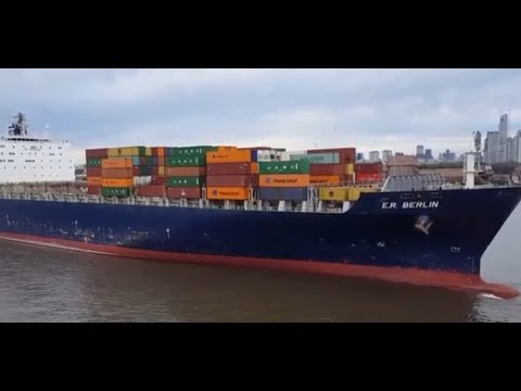 """Container Ship """"E.R.BERLIN"""" /On board Crude Oil Tanker """"CABO VÍRGENES"""" /Dock Sud #BuenosAiresHarbour"""