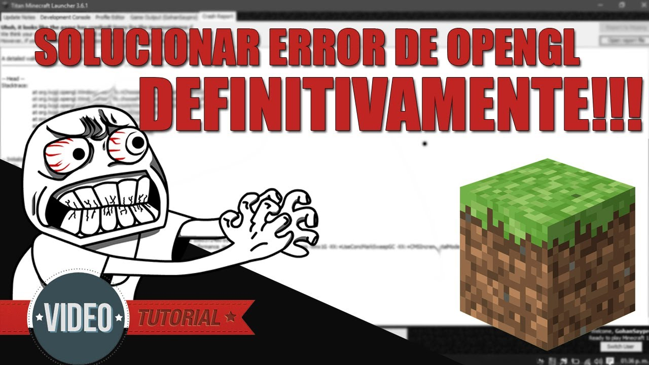 Minecraft is not working because of Opengl? - Minecraften