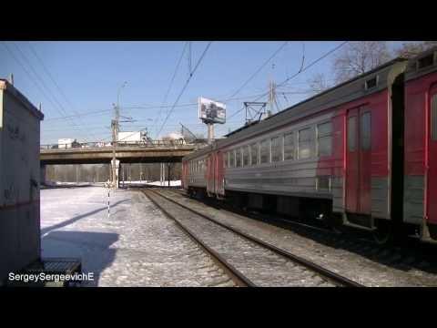 Электропоезд ЭД4М-0050 платформа Текстильщики