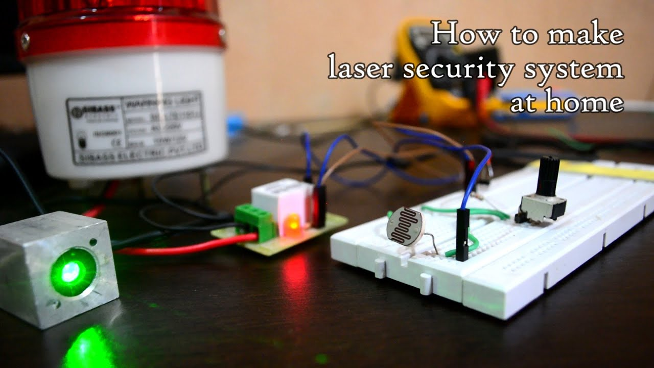 Weekend Project: Laser and LDR security system working prototype and ...