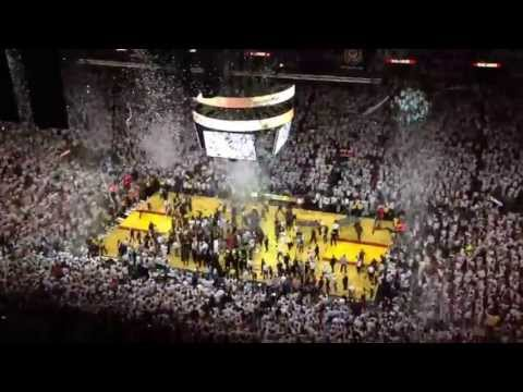 Inside American Airlines Arena when the Heat win the 2013 NBA Championship