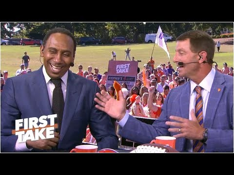 Dabo Swinney shocks Stephen A. by saying Trevor Lawrence is as good as Deshaun Watson | First Take