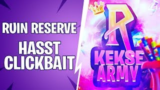 Ruin Reserve hasst Clickbait Youtuber | Das Ende von Fortnite!