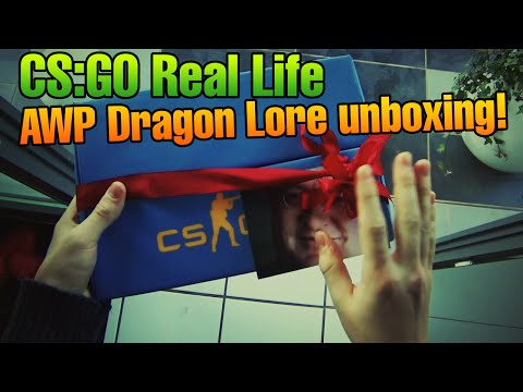CS:GO Real Life - AWP Dragon Lore case opening!