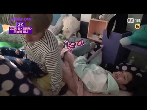[ENG Sub] Wanna One GO Zero Base Ep 8 FUNNY MOMENT (Guanlin wants to sleep with Jihoon)