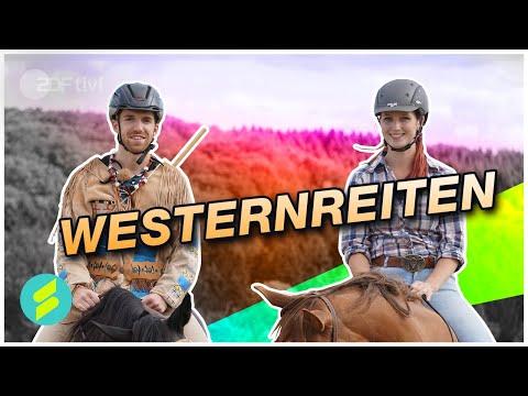 Die Sportmacher - Reiten wie Winnetou - Westernreiten mit Stefan und Katharina Grad   ZDFtivi