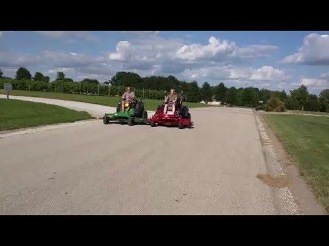 Ferris is5100z vs John Deere 997z drag race