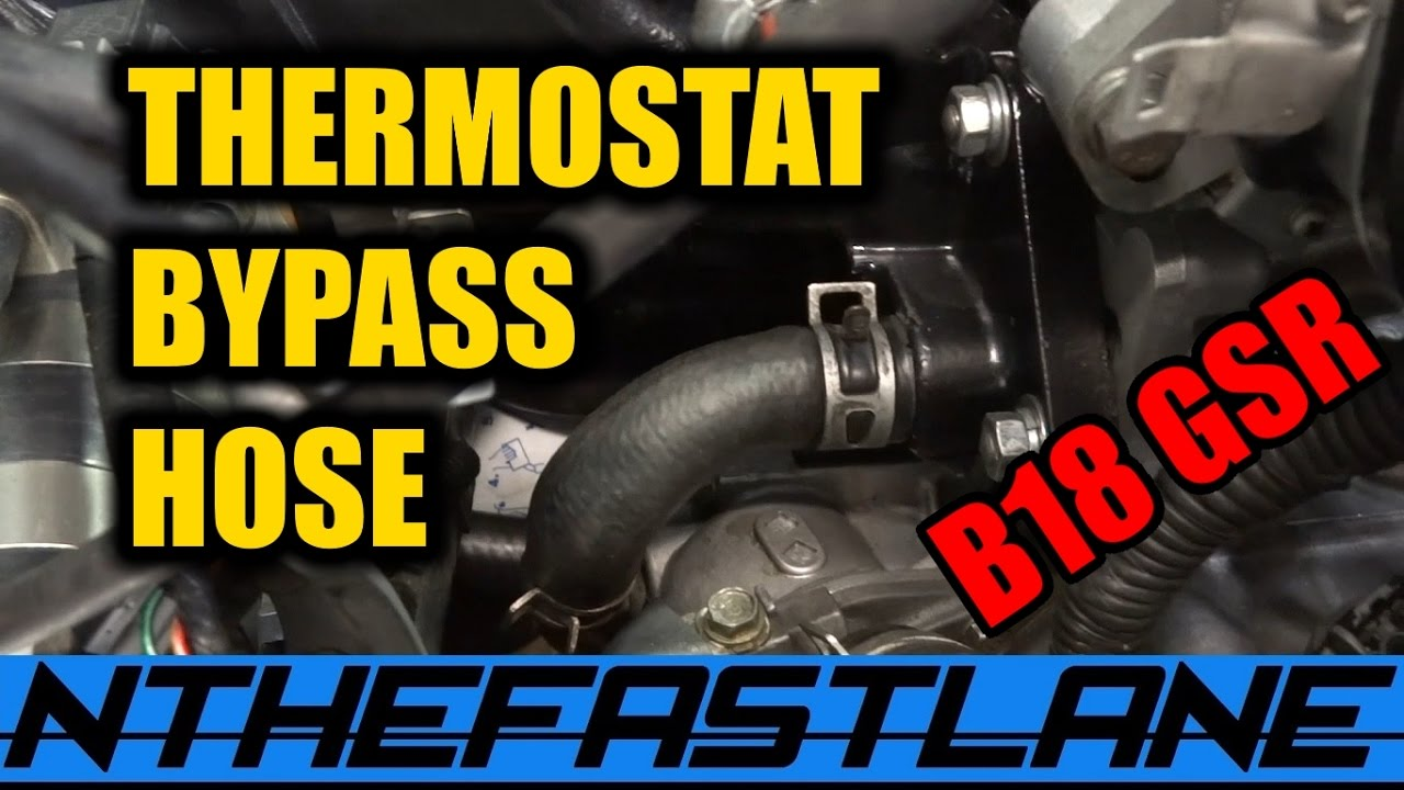 Thermostat Bypass Hose Honda Youtube