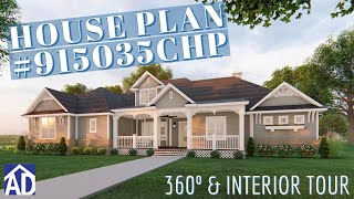 Exclusive Ranch House Plan 915035chp Tour With Interiors!