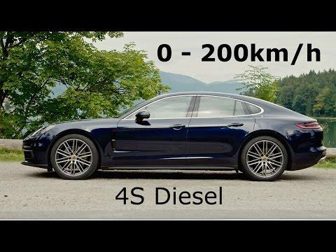 2017 Porsche Panamera 4S Diesel 0-200km/h
