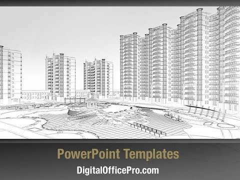 Architectural wireframe plan powerpoint template backgrounds architectural wireframe plan powerpoint template backgrounds digitalofficepro 00159 toneelgroepblik
