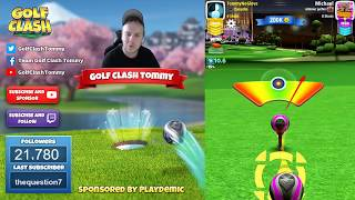 Golf Clash tips, Playthrough, Hole 1-9 - EXPERT - TOURNAMENT WIND! Platinum Resorts Tournament!
