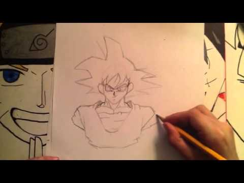 How to draw goku normal form part 2 - YouTube