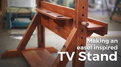 Building an easel inspired TV Stand