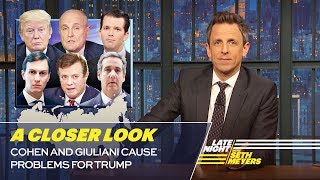 Seth takes a closer look at how President Trump's former and current lawyers are causing problems for him in the Russia investigation. » Subscribe to Late ...