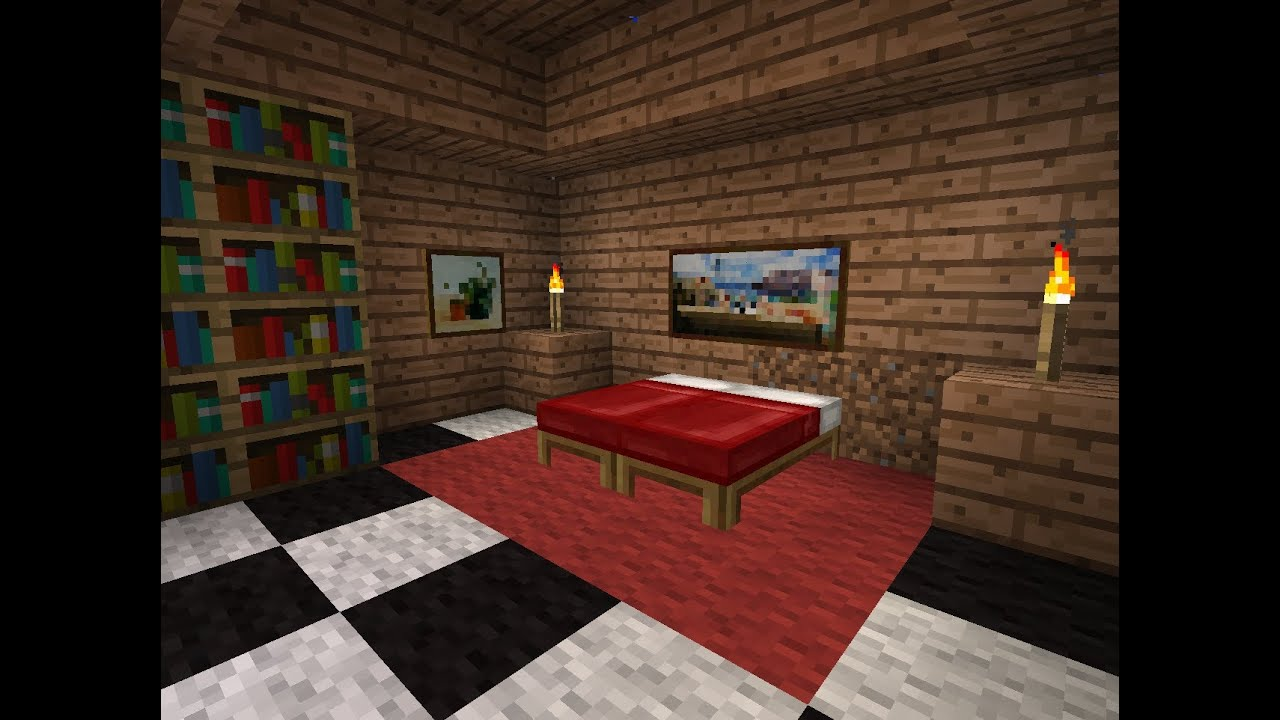 tuto minecraft comment faire une chambre moderne youtube. Black Bedroom Furniture Sets. Home Design Ideas
