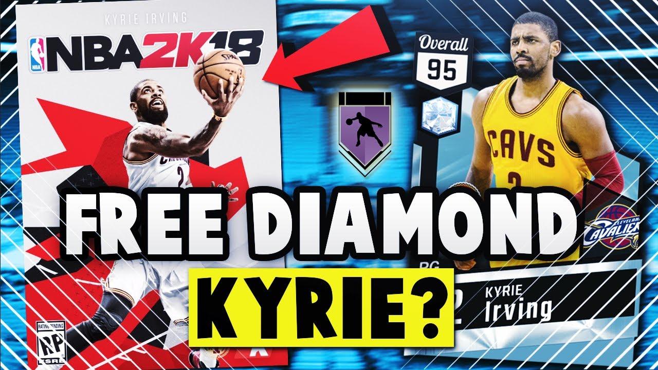 658139cb801 NBA 2K18 COVER ATHLETE FREE 95 OVERALL DIAMOND KYRIE IRVING   6 HOF BADGES