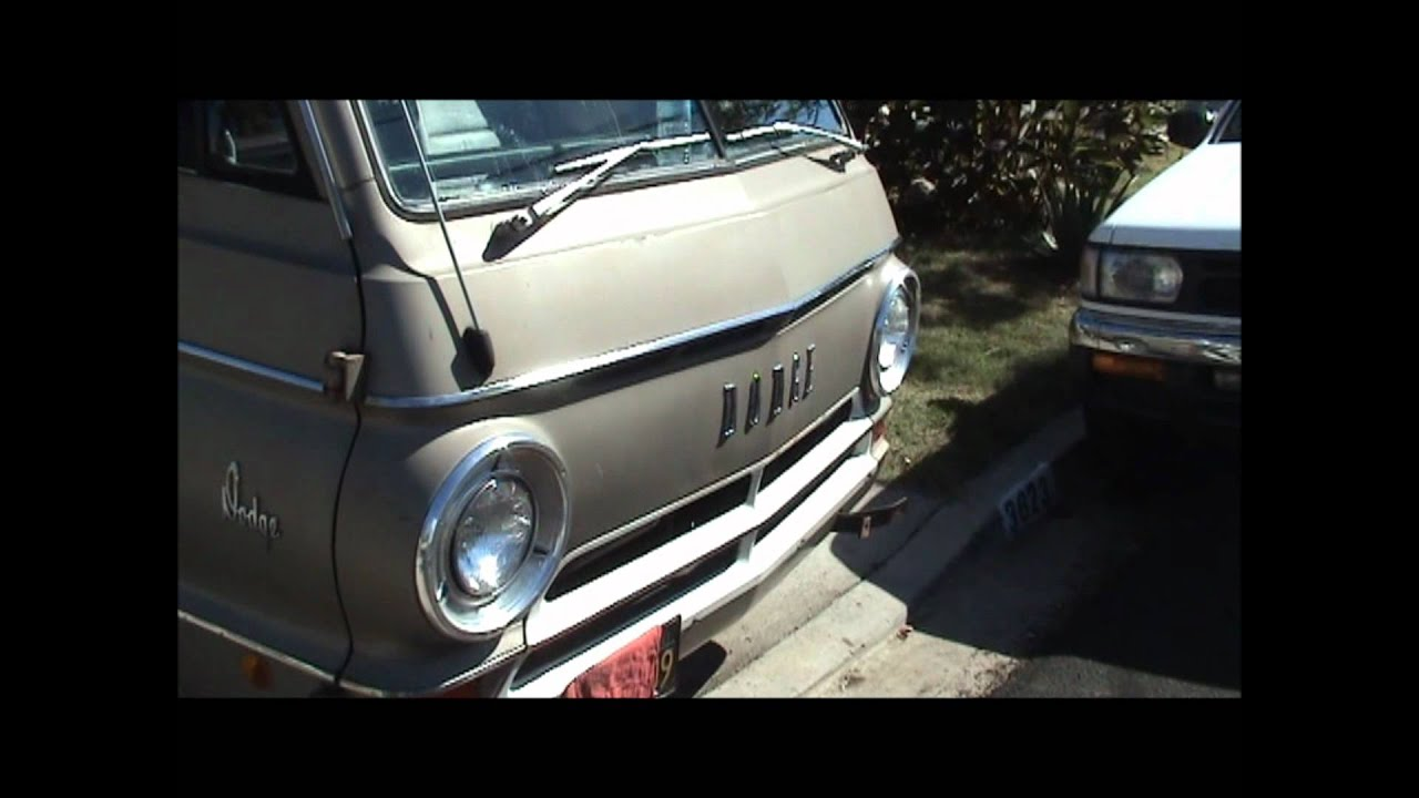 1968 Dodge A108 Van Walk Around And Test Drivewmv Youtube 1969 Camper