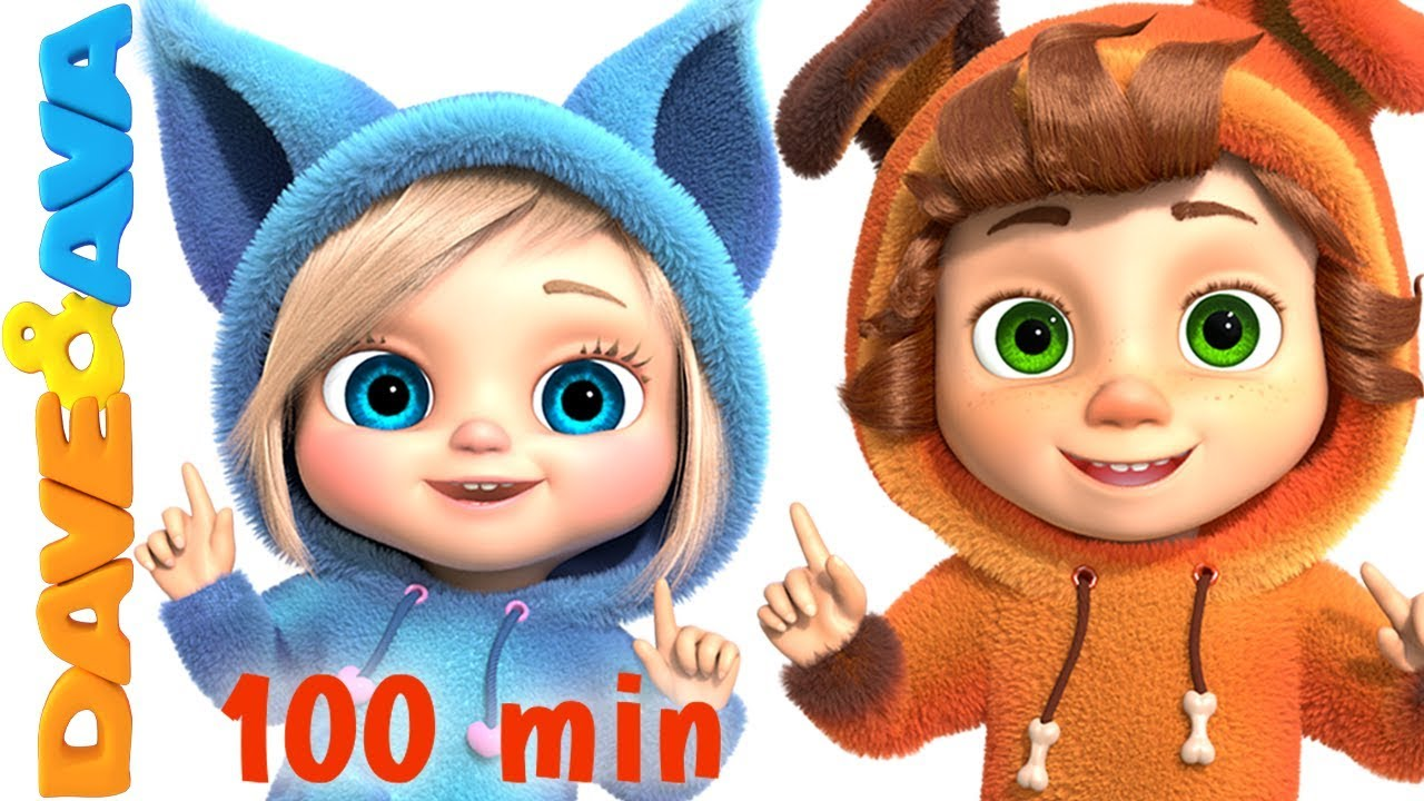 One Little Finger Cartoon Animation Nursery Rhymes Songs For Children Dave And Ava