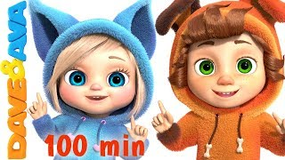 One Little Finger | Cartoon Animation Nursery Rhymes \u0026 Songs for Children | Dave and Ava
