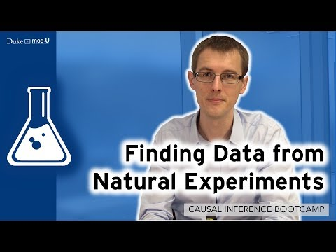 Finding Data from Natural Experiments: Causal Inference Bootcamp