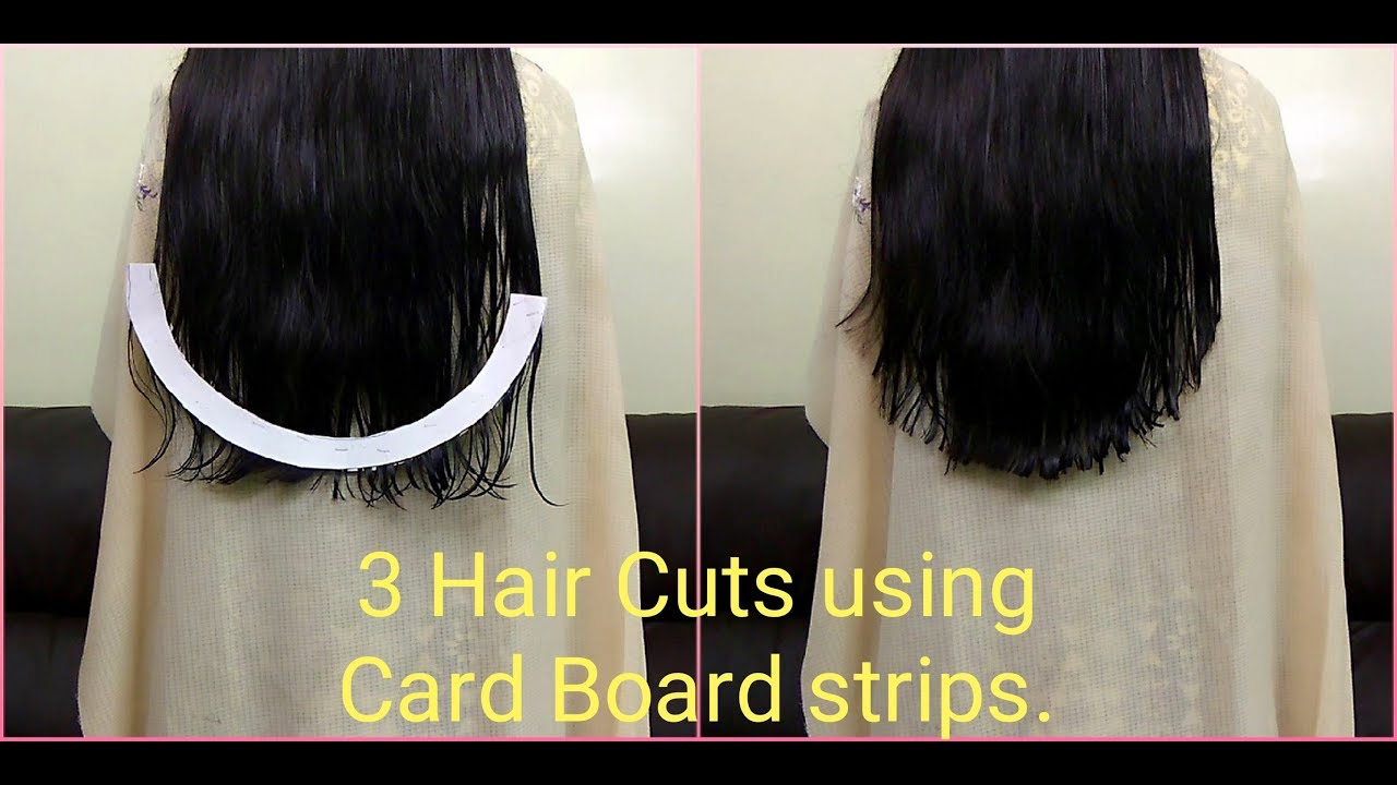 How to cut U / V / Straight Shape Haircut easily at home  How to do  Haircut using simple method