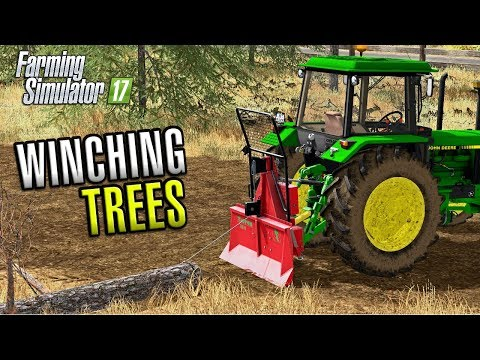 Farming Simulator 2017 | WINCHING TREES | American Outback | Episode 17
