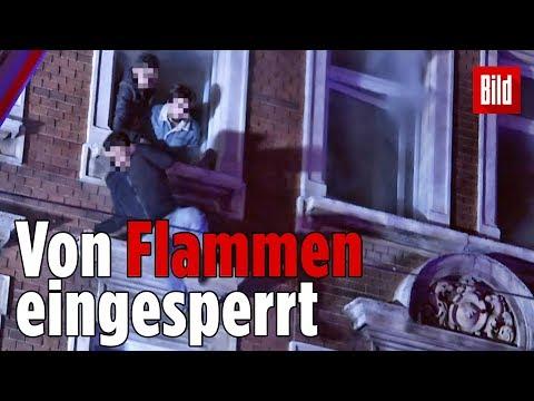 Leipzig: Bewohner springen aus brennendem Haus