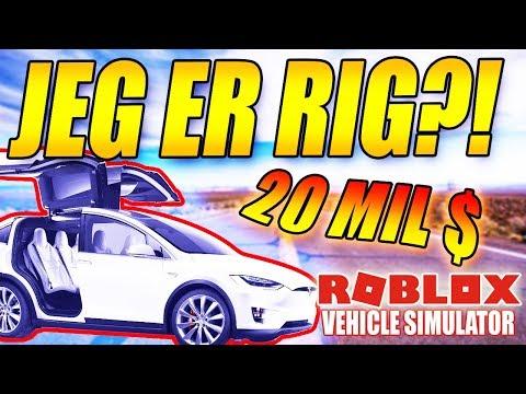 JEG ER RIG - 💲 20 MILLIONER DOLLARS 💲 - VEHICLE SIMULATOR - DANSK ROBLOX - [#10]