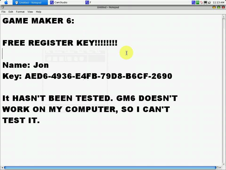 game maker license key 8.1