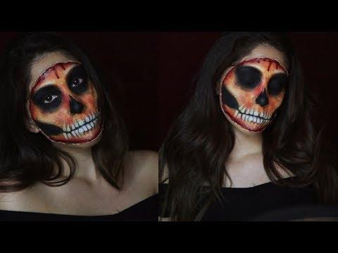 Easy Bloody Skull Tutorial | Halloween Makeup  2018