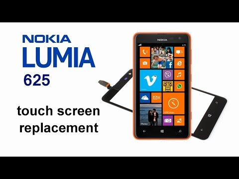 Nokia Lumia 625 - Touch Screen Digitizer Glass, how to replace