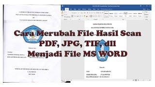 Cara Mengubah Hasil Scan ( IMG, TIF, PDF dll ) Menjadi File Ms Word screenshot 3