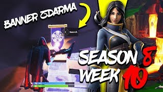WHERE is the FIFTH FREE BANNER for the SEASON 8 (Week 10)-Fortnite Battle Royale CZ/SK