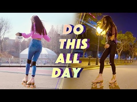 """I could do this all day"" Roller skating 롤러스케이트"