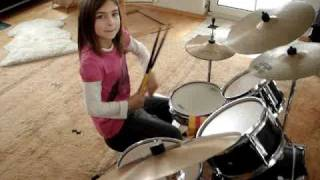 Maja (8) and her drums - Boogie (Basix Zildjian Paiste Ufip)