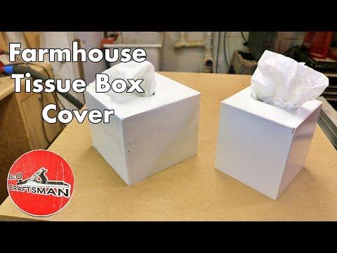 Farmhouse Tissue Box Cover
