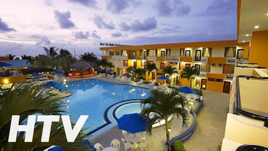 Hotel club del sol en atacames youtube for Hoteles baratos en sevilla con piscina
